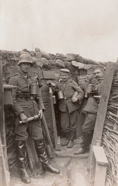 World War I. German trench near Ypres More