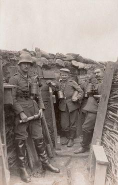 World War I. German trench near Ypres