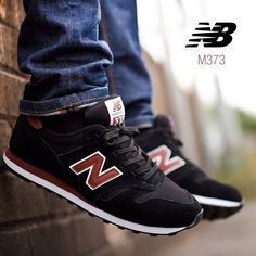New Balance M373: Black and Burgundy. Featuring a suede and mesh upper this retro runner is incredibly comfortable. #footasylum #showusyoursneaks #newbalance #running #retro