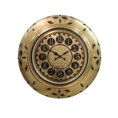 Designer Cutwork Golden Wall Clock - FOLKBRIDGE.COM   Buy Gifts. Indian Handicrafts. Home Decorations.