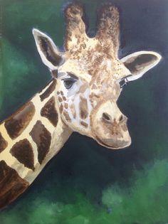 Giraffe - original acrylic painting via Etsy