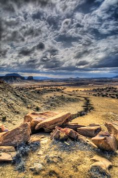 Sky and landscape in Cabezon Peak Wilderness Area of New Mexico