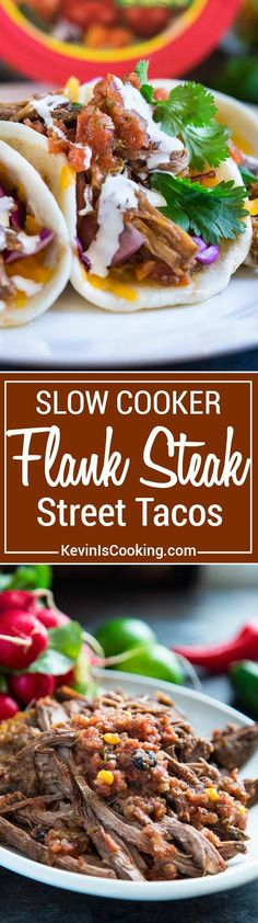 I make this Slow Cooker Flank Steak with fresh onion, garlic, cilantro and salsa. Beyond flavorful, can be used in tacos or enchiladas. Your family will love these!