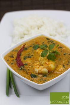 Gaeng phed goong - czerwone curry z krewetek