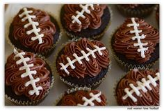 These cupcakes are perfect for your next football party.