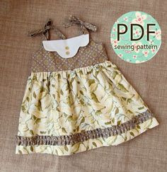 Vestidos Tutoriales, Vestidos De Verano, Patrón De Los Vestidos, Vestidos Del Bebé, Vestidos De Época, Vestidos De Estilo Vintage