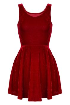 d71ae0d8d6 Red Velvet Skater Dress Red Valentines Day Dress