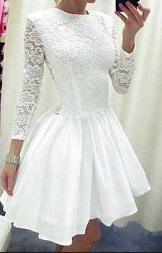 Fashion lace long sleeve dress