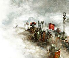 Legion.- ANNEE 54 av JC: Bretons, Eburons et Trévires 3) REVOLTES GENERALES en GAULE, 4: Chez les CARNUTES, le chef TASGETIOS, un fidèle de César qui l'a établi, est assassiné. Lucius Munatius Plancus est envoyé châtier les coupables. Les Eburons, commandés par AMBIORIX et CATUVALCOS, aident tout d'abord la légion qui est sur leur territoire en lui fournissant des vivres, puis au bout de 2 semaines, aidés de quelques autres tribus, ils attaquent le camp romain.