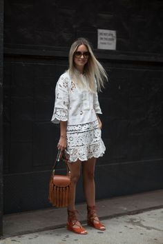 nice european summer dress, with espadrilles and straw bag