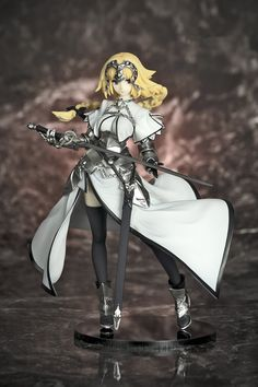 (34.31$)  Know more - http://aixxt.worlditems.win/all/product.php?id=32753703019 - Fate/Apocrypha Jeanne d'Arc 1/8 scale White&Black Ruler Ver. Joan of Arc Saber PVC Action Figure Collectible Model Toy20cmKT2996