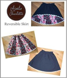 Aivilo Reversible Skirt by AiviloCharlotte | Sewing Pattern - Looking for your next project? You're going to love Aivilo Reversible Skirt by designer AiviloCharlotte. - via @Craftsy