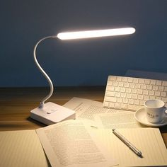 Thunlit Study Table Lamp is specially created for the student group, in order to meet their expectation of protecting eyes and relaxation while studying. Cheap Table Lamps, Touch Table Lamps, Desk Light, Light Table, Table Tactile, Office Lamp, Office Table, Table Desk, Reading Table
