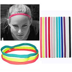 Campsis Elastic Headbands Sports Non Slip Headband Grip Silicone Yoga Hair Band Exercise Hair Wrap for Men Women and Girls ** Click image to review more details. (As an Amazon Associate I earn from qualifying purchases) Running Headbands, Sports Headbands, Headbands For Women, Elastic Headbands, Fashion Headbands, Nike Headbands, Athletic Headbands, Gym Hairstyles, Headband Hairstyles