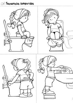 You Should Experience Potty Training Printable Coloring Pages At Least Once In Your Lifetime And Heres Why Toilet Training, Potty Training, Preschool Worksheets, Preschool Activities, Sequencing Pictures, Circle Time, Olay, Pre School, Life Skills