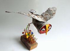 chouette,gérard collas,sculpture,assemblages,chouette