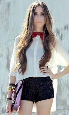 I love bow ties on girls