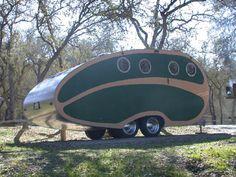 Vintage camper with portholes...