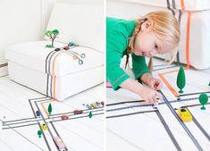 Crear juegos con washi tape