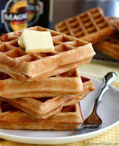 Hard cider waffles