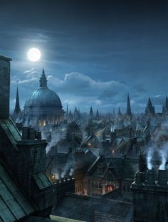 The last night I spent in London was moonlit like this--I lay awake all night and watched the moon and the clouds. It was too hot to sleep and I was sad I was leaving.