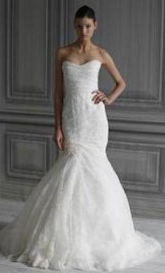 Used Monique Lhuillier Wedding Dress Sahara, Size 2