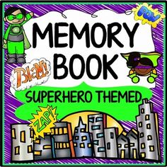 Memory book superhero themed resource that includes 25 pages of end of year activities (including autograph pages). @hweaver92 , this is pretty awesome.