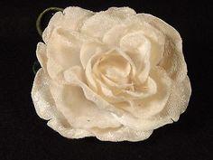 Velvet-Cream-Rose-Flat-Long-Stem-Millinery-Green-Leaves-Floral-Crowns-Bridal