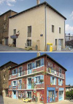 Bina duvarlarına hayat veriyor