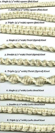 EXTREMELY USEFUL KNOTS!...These designs are good to know ! Any of these would be a good base for jewelry!