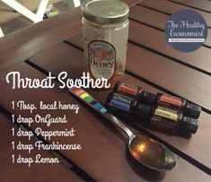 essential oil throat soother
