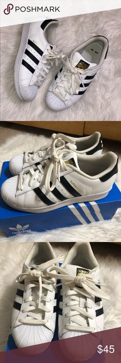 c8f5e25a028294 Adidas Superstar White   Black Sneakers •Worn a handful of times