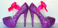 <3 Purple Sparkly Heels <3