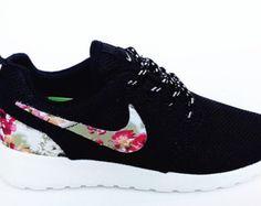 the best attitude 3c705 225e4 custom nike free roshe black run athletic women shoes with fabric flowers  Cheap Nike, Nike