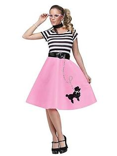 WOMENS POODLE SKIRT DRESS