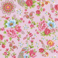 Pix For > Bright Floral Wallpaper For Walls
