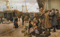 Udvandrere på Larsens Plads (version 2) - Larsens Plads - Wikipedia, den frie encyklopædi
