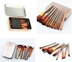 12pcs/set NAKED3 Makeup Cosmetic Powder Foundation Eyeshadow Lip Brushes