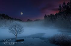 Norwegian moods by toreeideh  blue clouds cold ice lake mountains sea sky snow water white winter Norwegian moods toreeideh