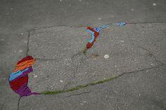 Juliana Santacruz Herrera: yarn in pot-hole series