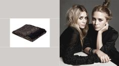 How to decorate your home like an Olsen twin // wool & silk throw