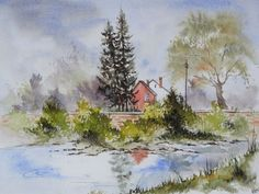 Watercolor Canvas, Watercolor Landscape, Watercolor Paintings, Watercolors, Watercolor Techniques, Painting & Drawing, Abstract, Drawings, Artist