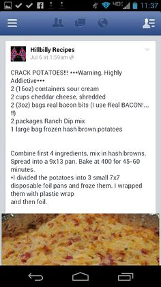 9/10 Wholly Crap!  Want to make something really easy that tastes great! These ghetto taters are awesome!!