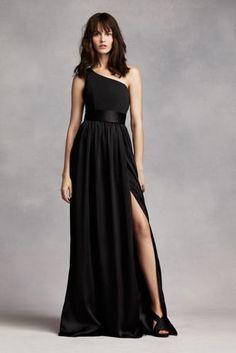 13efb13719e One Shoulder Dress with Satin Sash Style VW360215