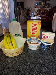 No cook banana pudding. Super easy, you can use low/no fat cool whip and sour cream [which I was suspicious of but totally works].. however, I need to try this with full fat Nilla Wafers. Reduced Fat got SUPER soggy and gross.