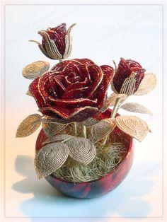 Делаем цветочную композицию из бисера - Ярмарка Мастеров - ручная работа, handmade
