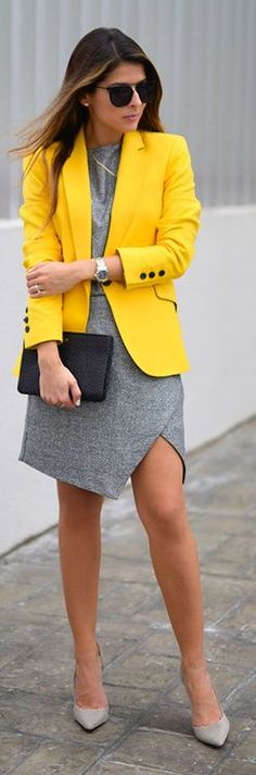 Yellow On Gray Fall Inspo by The Girl From Panama