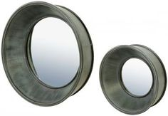 Porthole Mirrors - Set of 2- GREAT FOR BEDROOM OR ENTRY