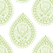 Mumbai in Pear by Domesticate from Spoonflower #fabric #green #block print