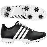 NEW Pilote pour femme Adidas peut Noir Chaussures de golf en cuir blanc Baskets (UK 65)